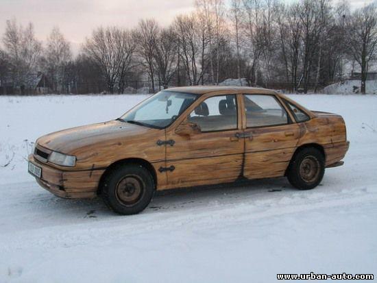 Деревянный Opel Vectra.